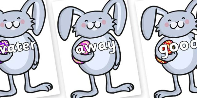Next 200 Common Words on Easter Bunny Rabbit - Next 200 Common Words on  - DfES Letters and Sounds, Letters and Sounds, Letters and sounds words, Common words, 200 common words
