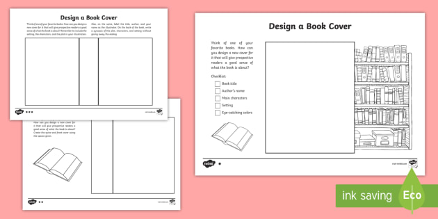 Book Cover Design Worksheet : Read across america design a book cover differentiated