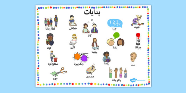 New EAL Starter Instructions Word Mat Urdu - urdu, literacy, words, mats