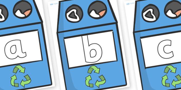Phoneme Set on Eco Bins - Phoneme set, phonemes, phoneme, Letters and Sounds, DfES, display, Phase 1, Phase 2, Phase 3, Phase 5, Foundation, Literacy