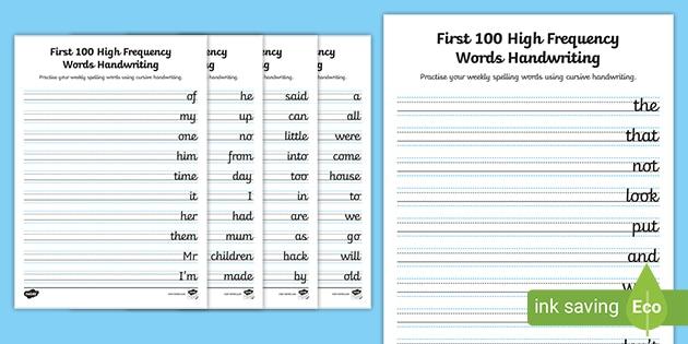 Print Handwriting Worksheets (teacher Made)