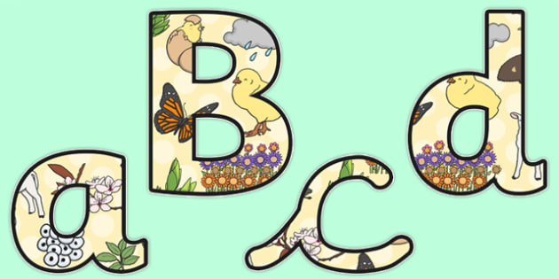 Spring Themed A4 Display Lettering - spring, display, lettering