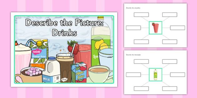 Describe the Picture - Drinks - describe, picture, drinks, sen