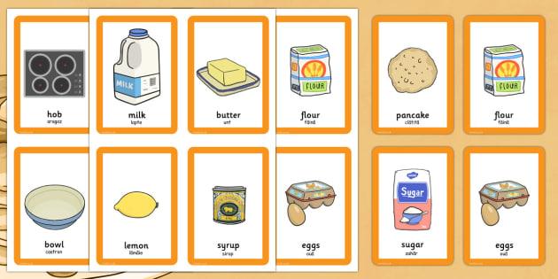 Pancake Day Pairs Matching Game Romanian Translation - romanian, activity, activities, match