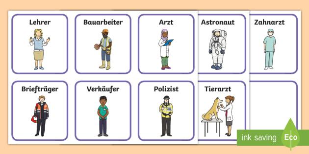 Berufe erraten: Wer bin ich? Arbeitsblatt - DE Girls\' Day, jobs