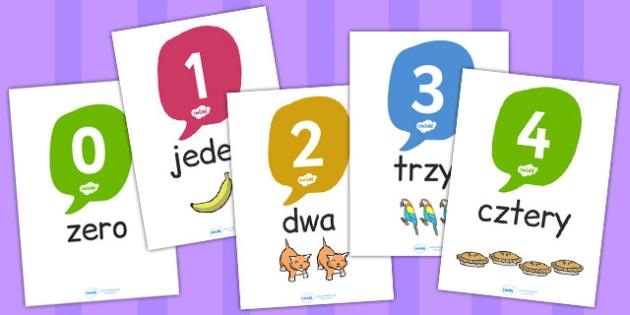 Liczby 0-20  po polsku - dzieci, matematyka, dodawanie , Polish