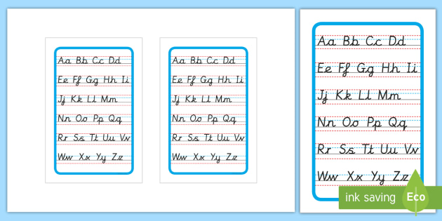 Cursive Alphabet Letter Formation Poster Upper and Lower Case