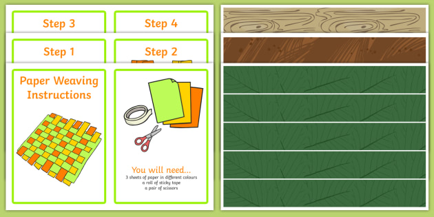 Woodland Paper Weaving Activity - woodland, forest, activities