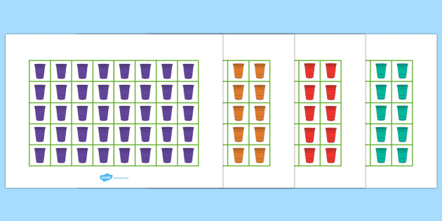 Rain Cup Colour Pictogram - rain cup, colour, pictogram, rain, cup, colouring, colours