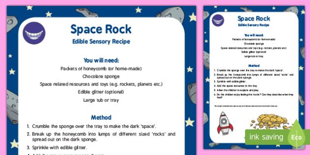 Space Rock Edible Sensory Recipe