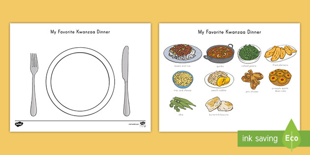 us t my favorite kwanzaa dinner cut and stick activity sheet ver 2