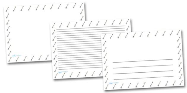 Garden Fork Landscape Page Borders- Landscape Page Borders - Page border, border, writing template, writing aid, writing frame, a4 border, template, templates, landscape