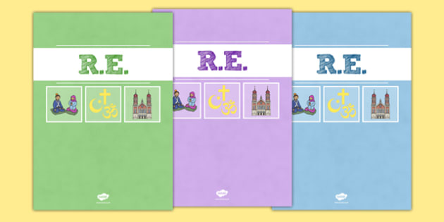 RE Divider Covers - re, religious education, divider covers, divider, cover