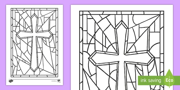 21+ Stained Glass Coloring Pages ❤+❤ Church Window Printables | 315x630