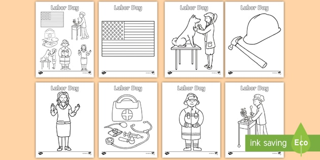 Labor Day Coloring Sheets