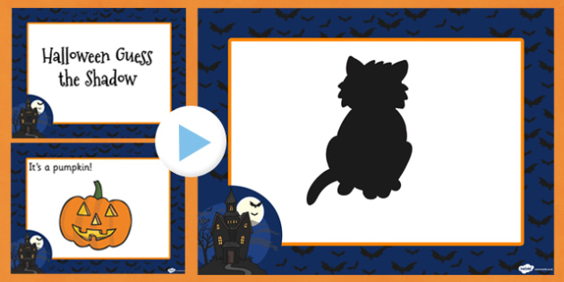 Halloween Guess the Shadow PowerPoint - halloween, shadow, guess