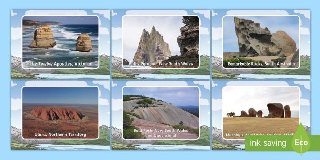 Rock Features in Australia Display Photos - Australia landforms, rock formations, Australia natural features, rocks, Uluru, Ayres rock, Australi