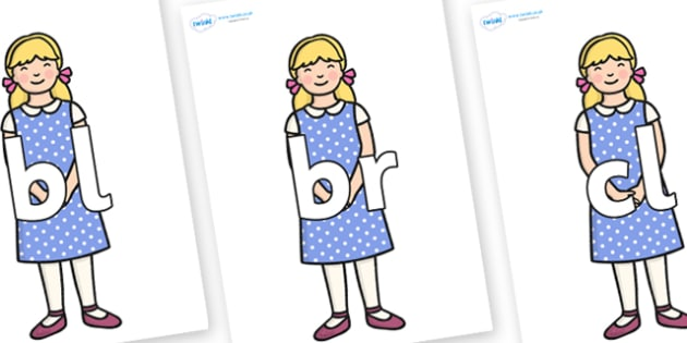 Initial Letter Blends on Goldilocks - Initial Letters, initial letter, letter blend, letter blends, consonant, consonants, digraph, trigraph, literacy, alphabet, letters, foundation stage literacy