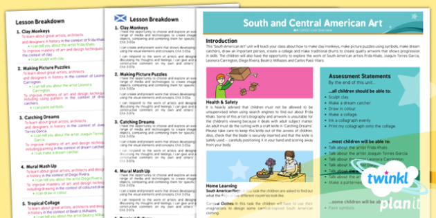 Art: South and Central American Art UKS2 Planning Overview CfE