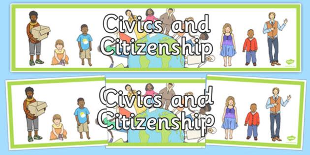 Civics and Citizenship Banner - australia, civics, citizenship, display banner, display, banner