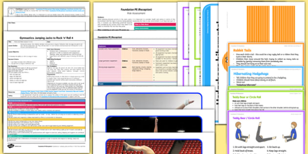 Foundation PE (Reception) - Gymnastics - Jumping Jacks and Rock 'n' Roll Lesson Pack 4: Rock and Rolls - EYFS, PE, Physical Development, Planning