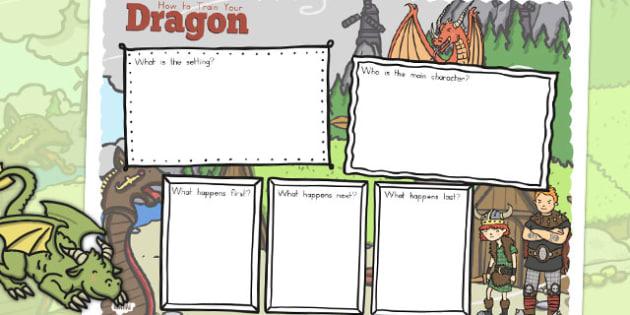 How to Train Your Dragon Review Writing Frame - australia, dragon, train