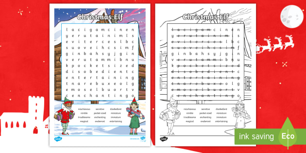 KS2 Christmas Elf Word Search Worksheet / Worksheet - key stage 2 ...
