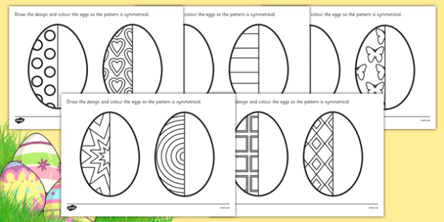 Ks2 Easter Egg Symmetry Worksheets