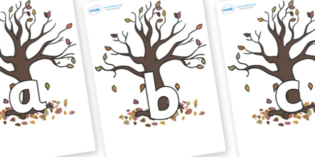 Phoneme Set on Autumn Trees - Phoneme set, phonemes, phoneme, Letters and Sounds, DfES, display, Phase 1, Phase 2, Phase 3, Phase 5, Foundation, Literacy