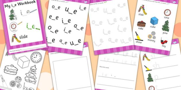 Phase 5 i_e Grapheme Workbook - phase five, graphemes, phases