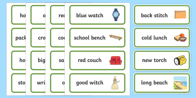 Two Syllable Final Ch Sound Word Cards - final ch, sound, word