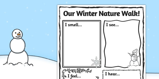 Our Winter Nature Walk Writing Frame - winter, writing, frame