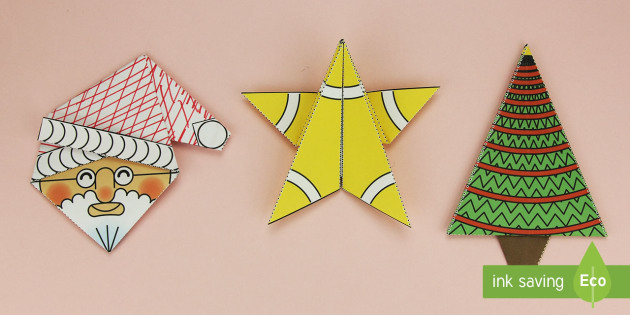 Simple 3d Christmas Origami Pack Paper Craft Origami Paper Craft