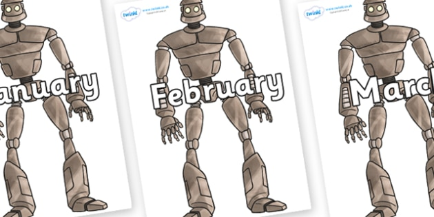 Months of the Year on The Iron Man - Months of the Year, Months poster, Months display, display, poster, frieze, Months, month, January, February, March, April, May, June, July, August, September