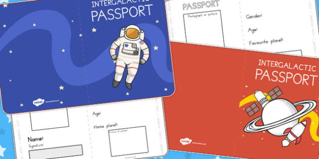 Space Passports - travel, passport, traveling, planets, activity
