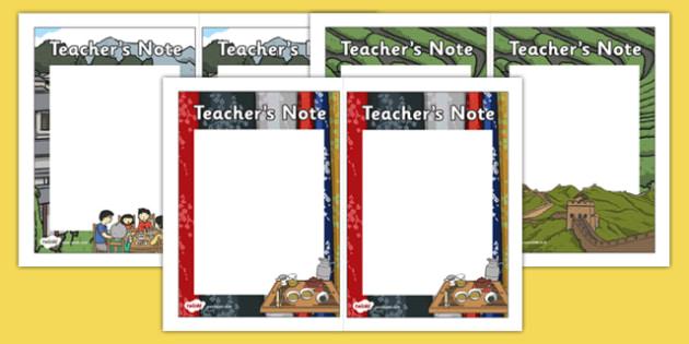 Chinese Culture Teacher Note - chinese culture, chinese, culture, teacher note