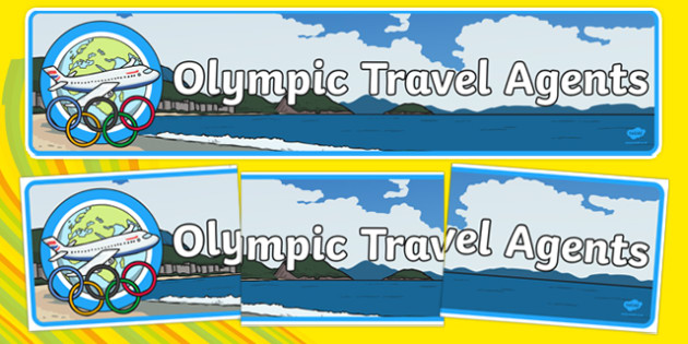 Olympic Travel Agents Display Banner - olympic, travel agents, display banner, display, banner