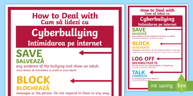 english cyber bullying Cyberbullying is the use of the internet to frighten or upset someone, usually by sending them unpleasant messages the girl experienced a high level of cyberbullying cobuild advanced english dictionary.