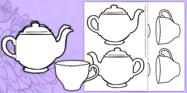 Mother's Day Card Blank Teapot Card Craft - mothers day, card, blank, teapot