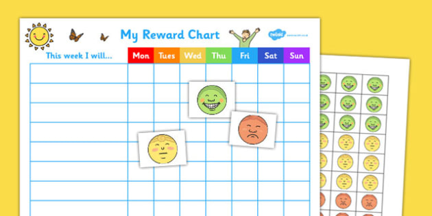 My Reward Chart - reward, chart, reward chart, chart for rewards, awards, behaviour management, behaviour, attitude, treats, recording behaviour
