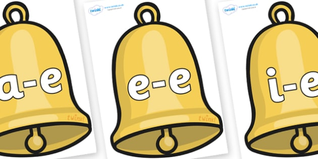 Modifying E Letters on Christmas Bell - Modifying E, letters, modify, Phase 5, Phase five, alternative spellings for phonemes, DfES letters and Sounds