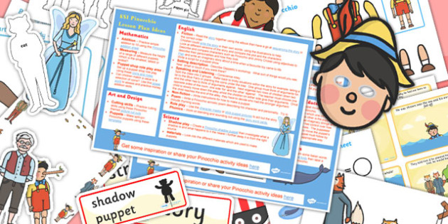 Pinocchio Lesson Plan Ideas and Resource Pack - Pinocchio, Pack