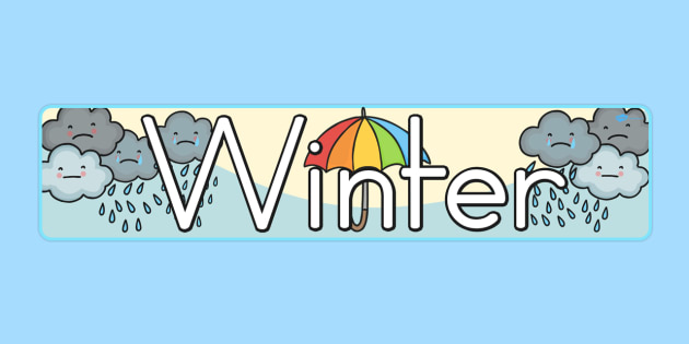 Winter Display Banner - display, banner, winter, winter display
