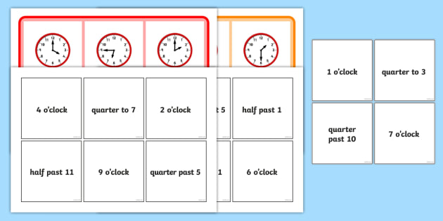 image relating to 7th Grade Math Bingo Printable named No cost! - Blended Year Bingo - Oclock 50 percent Over and above Quarter In the direction of