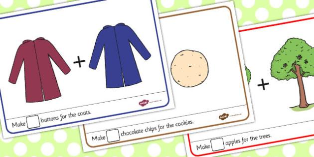 Addition Playdough Mats - addition, playdough mats, mats, add