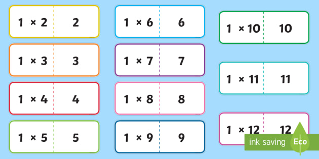 Times Tables Cards Pack Times Tables Multiply Cards Pack