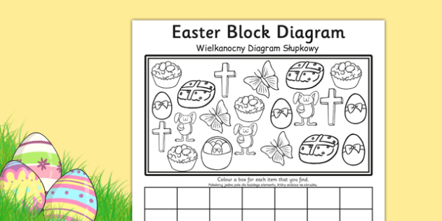 Easter Block Graph Activity Sheet Polish Translation - polish, graphs, record, activities, worksheet