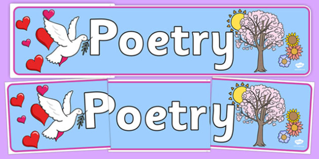 Poetry Display Banner - display banner, display, banner, poetry, poems, poem, literacy, english