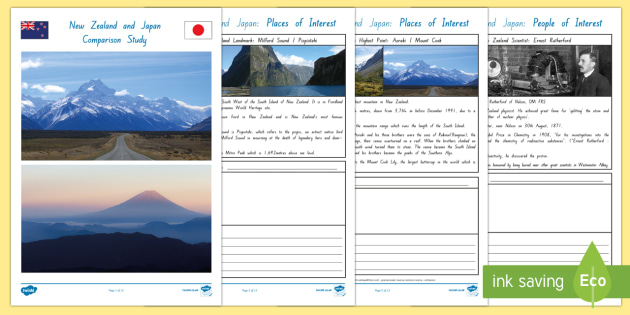 New Zealand and Japan Comparison Study Activity Booklet