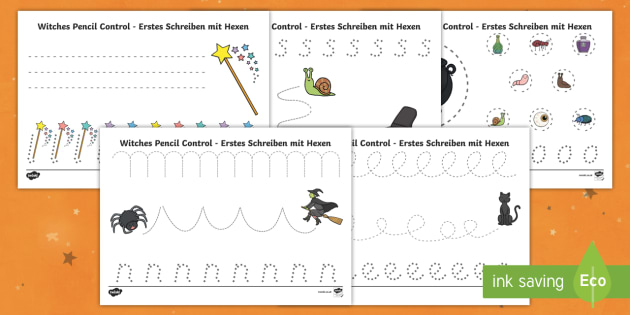 witches pencil control worksheet activity sheets english german eal. Black Bedroom Furniture Sets. Home Design Ideas